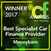 Best Specialist Car Finance Winner 2017